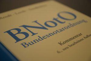 Buch Bundesnotarordnung